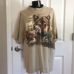 Other - Vintage cotton wolf T-shirt Graphic print tee 🐺